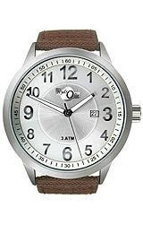 HydrOlix Three-Hand Brown Web Fabric/Silver Dial Mens watch #XA00211