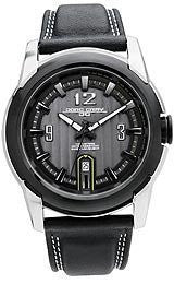 Jorg Gray Leather Charcoal Dial Mens watch #JG9400-24