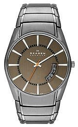 Skagen Aktiv Three-Hand Date Titanium Mens watch #SKW6034