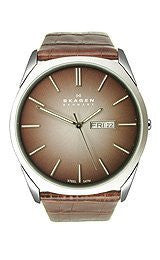 Skagen Steel Collection Brown Degrade Dial Mens Watch #890XLSLD