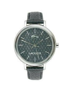 Lacoste Nice Three-Hand Black Leather Womens watch #2000887