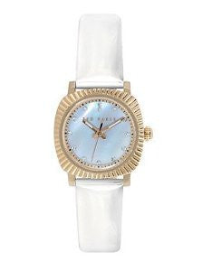 Ted Baker Three-Hand White Leather Womens watch #TE2122
