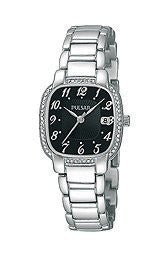 Pulsar Silver-Tone with Swarovski® Crystal Stainless Steel Womens watch #PH7303
