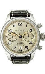 Hamilton Khaki Conservation Auto Chrono Silver Dial Mens watch #H60416553