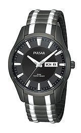 Pulsar Expansion Two-Tone Stainless Steel Mens watch #PJ6049