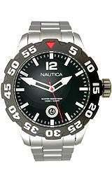 Nautica Steel Bracelet Black Dial Mens watch #N18622G