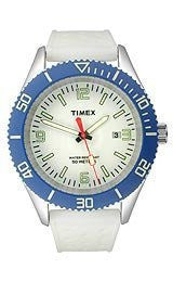 Timex Silicone White Dial Mens watch #T2N535