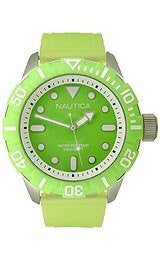 Nautica Green Jelly Strap Mens watch #N09605G