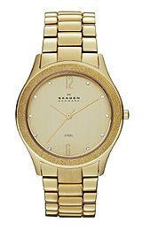 Skagen Klassik Three-Hand Stainless Steel - Gold-Tone Womens watch #SKW2094