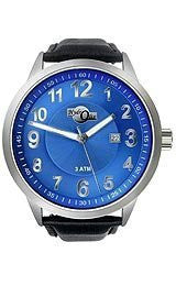 HydrOlix 3-Hand Black Leather/Blue Dial Unisex watch #XA00223
