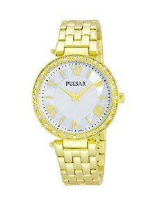 Pulsar Night Out Two-Hand Stainless Steel - Gold-Tone Womens watch #PM2126