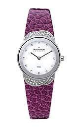 Skagen Steel Collection White Dial Womens Watch #818SSLVV