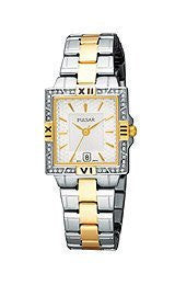 Pulsar by Seiko Two-Tone Stainless Steel Womens watch #PXT696