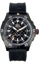 H3 TACTICAL Commander Carbon 3-Hand Silicone Mens watch #H3.302131.12