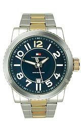 Tommy Hilfiger Two-tone Stainless Steel Bracelet Blue Dial Mens Watch #1790673