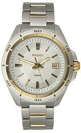 Seiko Two-tone Dress Bracelet Mens watch #SGEE90P1