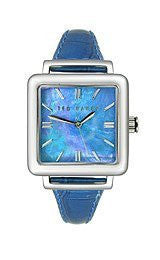 Ted Baker Three-Hand Blue Leather Womens watch #TE2016