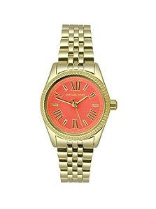 Michael Kors Petite Lexington Gold-Tone Stainless Steel Womens watch #MK3284