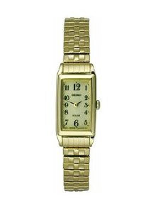 Seiko Solar Two-Hand Stainless Steel - Gold-Tone Womens watch #SUP244