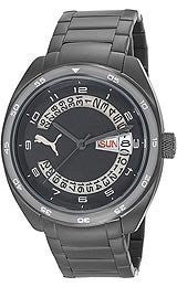 Puma Course - Black Steel Mens watch #PU102521006