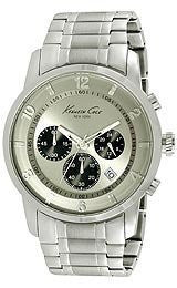 Kenneth Cole New York Chronograph with Silver Link Strap Mens watch #KC9292