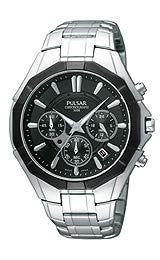 Pulsar by Seiko Chronograph Stainless Steel Mens Watch #PT3201