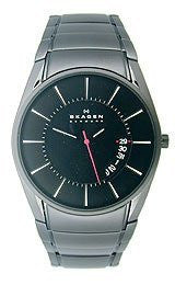 Skagen Aktiv Three-Hand Date Titanium - Black Mens watch #SKW6035
