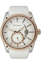 Rinovati Fashion Collection Rose-gold White Enamel Dial Womens watch #006
