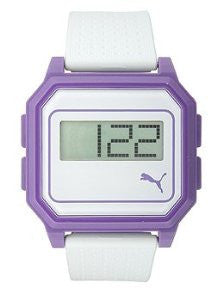 Puma Flat Screen White Purple Digital Mens watch #PU910951007