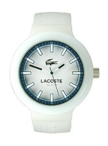 Lacoste Borneo Three-Hand White Silicone Mens watch #2010795