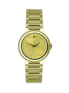 Movado Concerto Gold Stainless Steel with Diamonds Womens watch #0606791