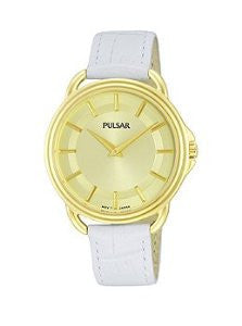 Pulsar Easy Style Two-Hand Leather - White Womens watch #PM2136