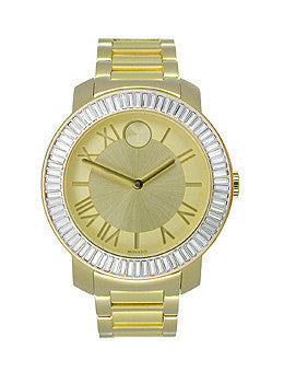 Movado Bold Two-Hand Gold Stainless Steel Unisex watch #3600247