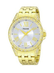 Pulsar Night Out Three-Hand Stainless Steel - Gold-Tone Womens watch #PG2006