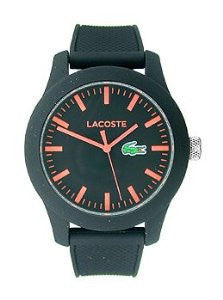Lacoste Lacoste.12.12 Three-Hand Black Silicone Mens watch #2010794