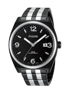 Pulsar Three-Hand Stainless Steel - Two-Tone Mens watch #PS9281
