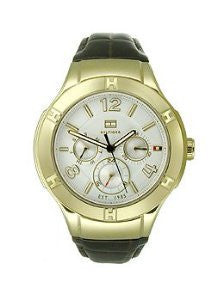 Tommy Hilfiger Multifunction Brown Leather Womens watch #1781363