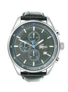 Lacoste Dublin Chronograph Black Leather Mens watch #2010784