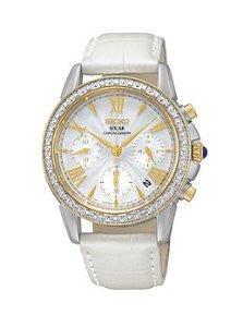Seiko Le Grand Sport Chronograph Leather - White Womens watch #SSC878