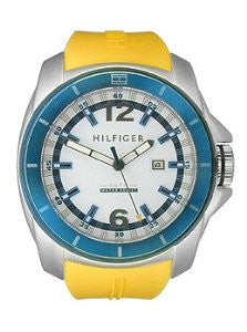Tommy Hilfiger Windsurf Three-Hand Yellow Silicone Mens watch #1791115