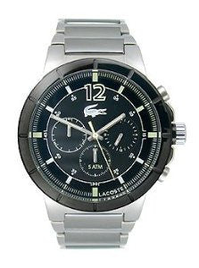 Lacoste Darwin Chronograph Silver-Tone Stainless Steel Mens watch #2010744