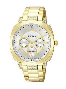Pulsar Multifunction Stainless Steel - Gold-Tone Womens watch #PP6136