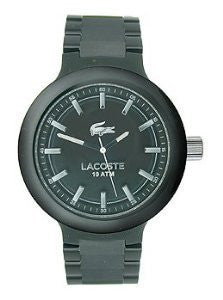 Lacoste Borneo Three-Hand Black Polycarbonate Mens watch #2010754