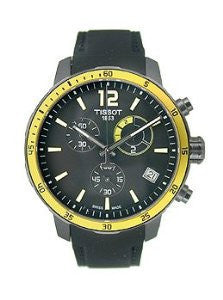 Tissot Quickster Chrono Football Silicone - Black Mens watch #T095.449.37.057.00
