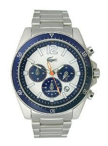 Lacoste Seattle Chronograph Silver-Tone Stainless Steel Mens watch #2010753