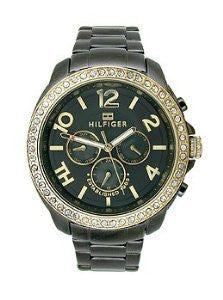 Tommy Hilfiger Multifunction Black Stainless Steel Womens watch #1781496