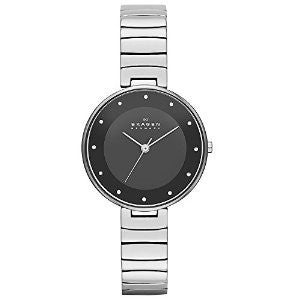 Skagen Gitte Silver-Tone Stainless Steel Womens watch #SKW2225