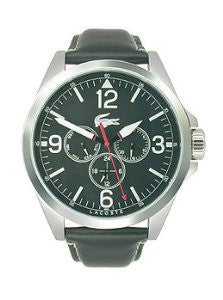 Lacoste Montreal Multifunction Black Leather Mens watch #2010804