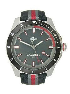 Lacoste Durban Three-Hand Black Canvas Mens watch #2010810