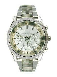 Michael Kors Clarkson Tortoise and Silver-Tone Stainless Steel Womens watch #MK5962
